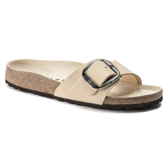 Birkenstock - Madrid Big Buckle - Almond Nubuck Leather
