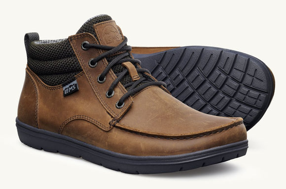 Lems Boulder Boot Mid - Umber Leather
