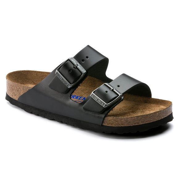 Birkenstock - Arizona Soft - Amalfi Black Smooth Leather