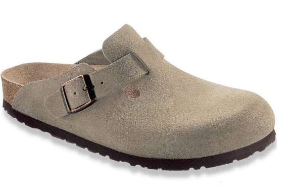 Boston - Taupe Suede Leather
