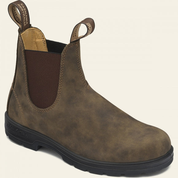 Blundstone 585 Chelsea Boot, Leather Lined - Rustic Brown