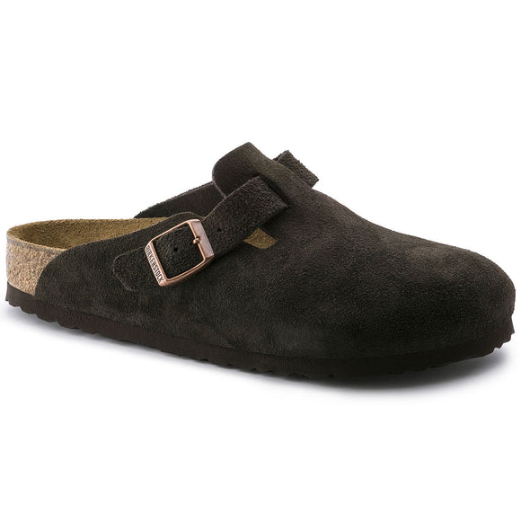 Birkenstock - Boston Soft - Mocha Suede Leather