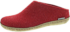 Glerups - The Slip-On, Leather Sole - Red