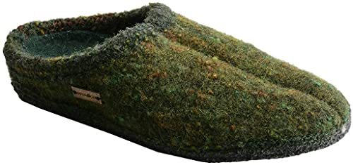 Haflinger Classic Slipper with Mohair - Green