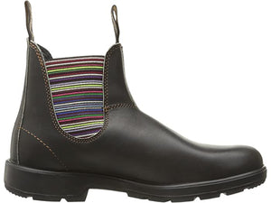 Blundstone 1409 Chelsea Boot, Unlined - Stout Brown / Striped