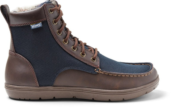 Lems Boulder Boot - Navy Stout Canvas