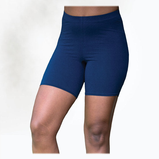 Maggie's Organics | Woman's Cotton Bike Shorts - Blue
