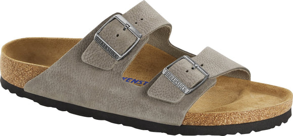 Birkenstock - Arizona Soft - Soft Whale Gray Nubuck Leather