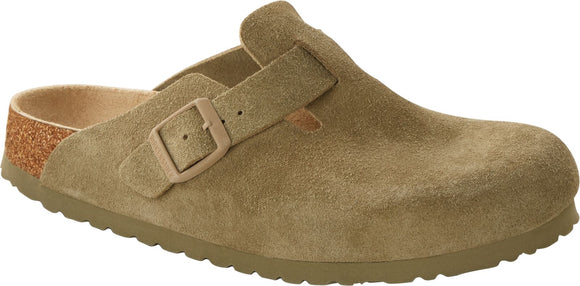 Birkenstock - Boston Soft - Faded Khaki Suede Leather