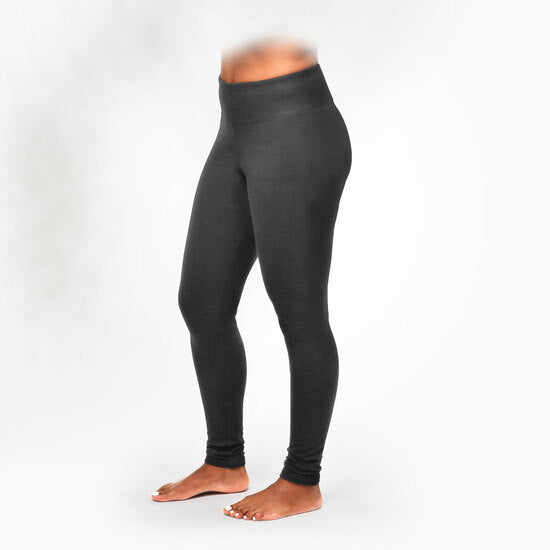Maggie's Organics | Woman's Fleece Leggings - Gray