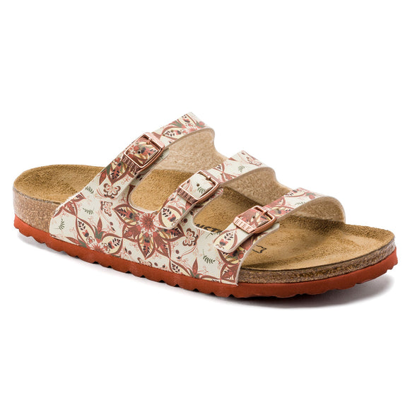 Birkenstock - Florida - Boho Flowers Earth Red Birko-Flor