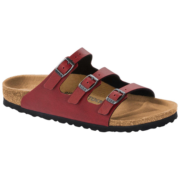 Birkenstock - Florida - Pull Up Bordeaux Birko-Flor