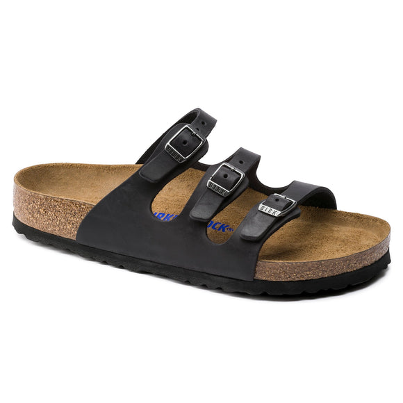 Birkenstock - Florida Soft - Black Oiled Leather