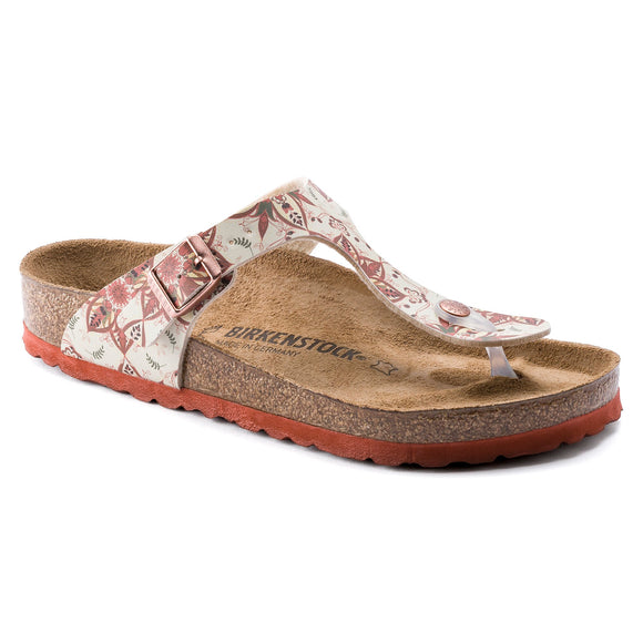 Birkenstock - Gizeh - Boho Flowers Earth Red Birko-Flor