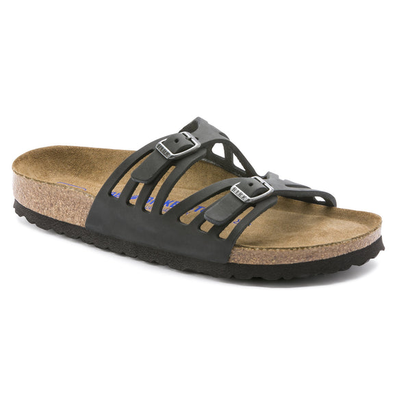 Birkenstock - Granada Soft - Black Oiled Leather
