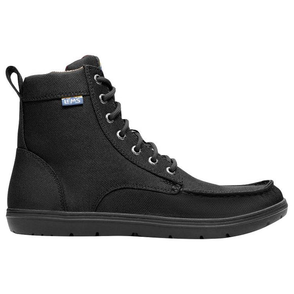 Lems Boulder Boot Vegan - Black Canvas - Euro Sizing