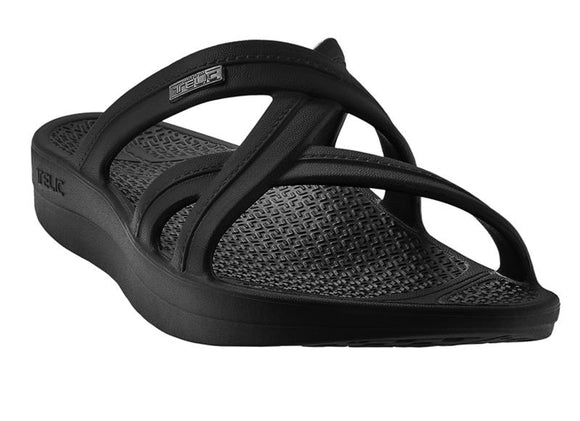 Telic Mallory Sandal - Midnight Black