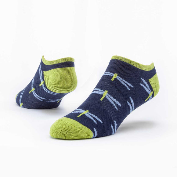 Maggie's Organics | Organic Cotton Footie Socks - Navy Dragonfly