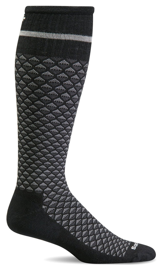 Sockwell-Men's Firm Graduated Compression Socks- Micro Mix Black