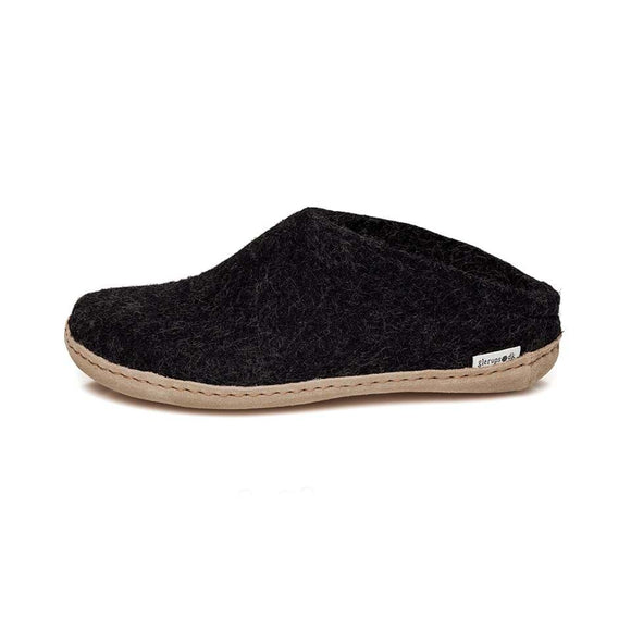 Glerups - The Slip-On, Leather Sole - Charcoal