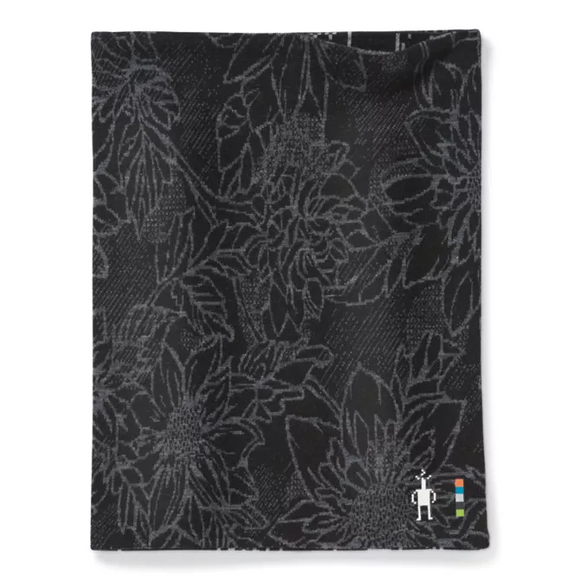 Smartwool - Merino 250 Reversible Pattern Neck Gaiter- Black Traced Dahlia