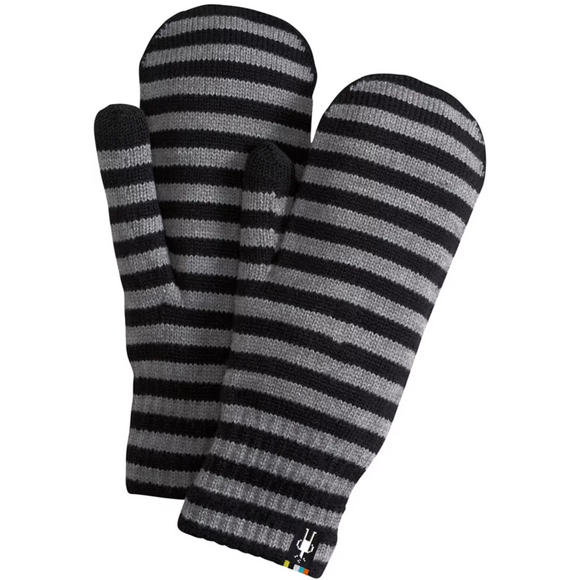 Smartwool - Striped Knit Mitt - Black