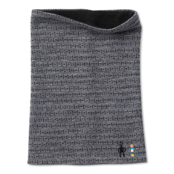 Smartwool - Merino 250 Reversible Pattern Neck Gaiter- Gray Tick Stitch