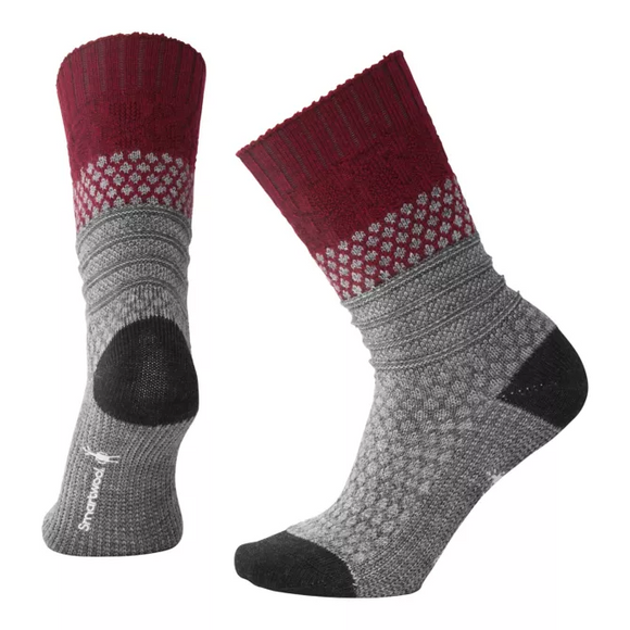 Smartwool - Women's Popcorn Cable Socks- Tibetan Red