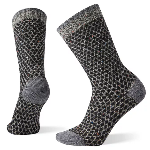 Smartwool - Women's Popcorn Polka Dot Crew Sock- Black/Multi Donegal