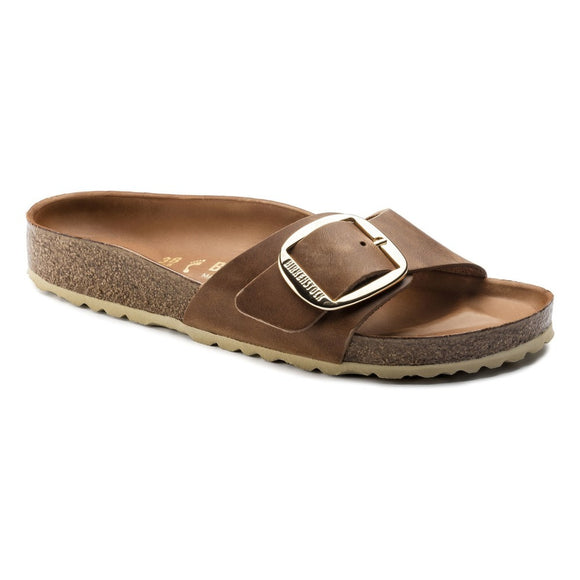 Birkenstock - Madrid Big Buckle - Cognac Leather