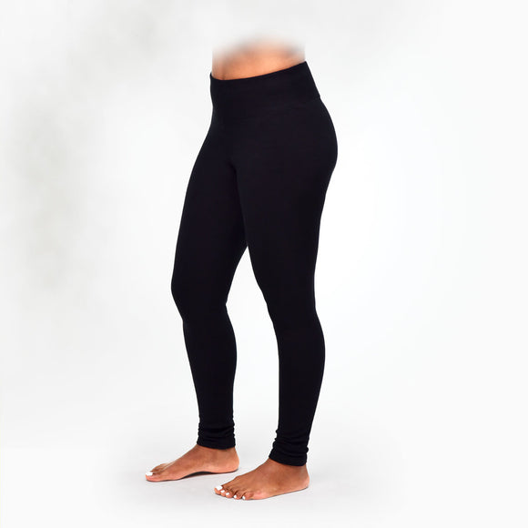 Maggie's Organics | Woman's Fleece Leggings - Black