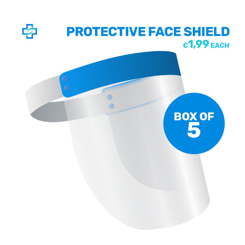 Pack of 5x Protective Transparent Face Shield (1.99 each)