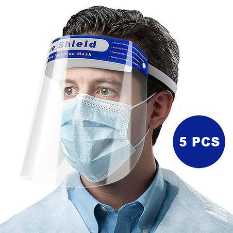 5 X Protective Transparent Face Shield (3.99 each) - DELIVERY IN 48H