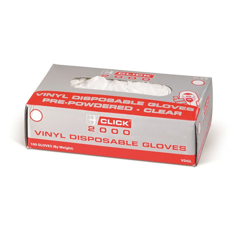 100 x Vinyl Gloves Disposable Transparent