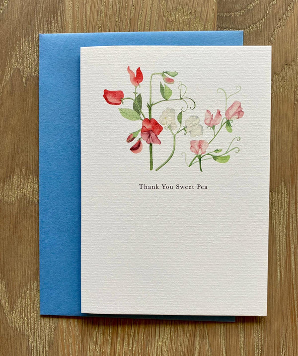 Card - thank you sweet pea