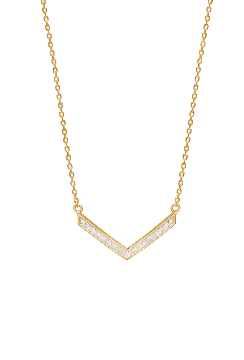 Baguette V Shape Necklace
