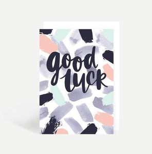 Card - good luck paintstroke