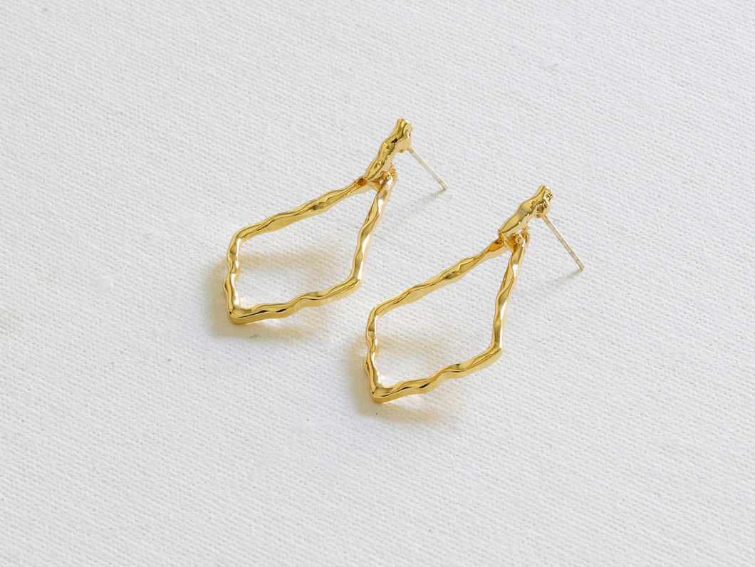 Pandora Plated gold earrings
