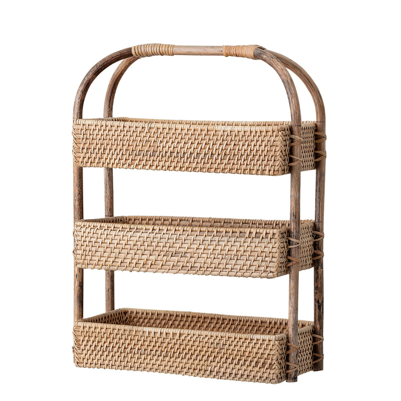 Rattan stacked basket