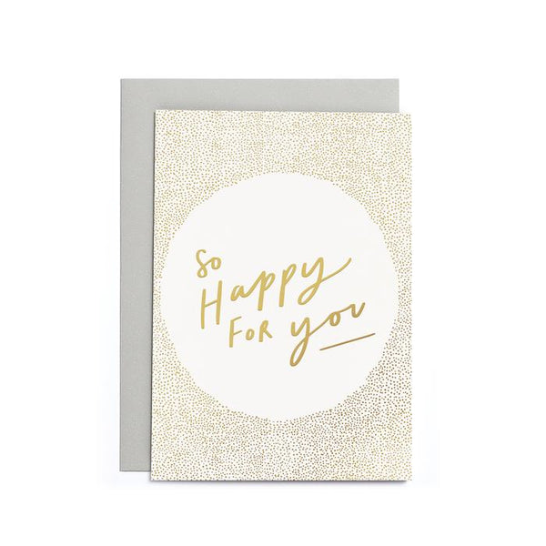Mini card - so happy for you