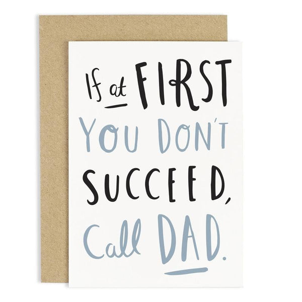 Call Dad fathers day card