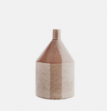 Load image into Gallery viewer, Caramel stoneware vase