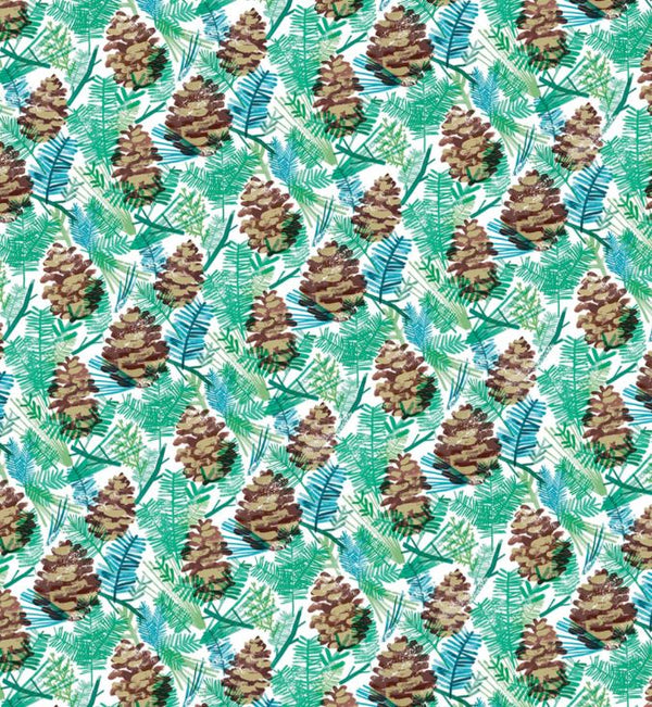 Christmas cones wrapping paper