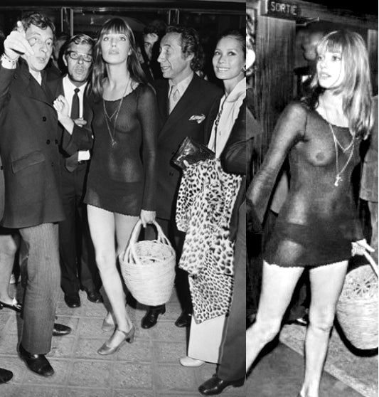 Jane Birkin 1969 Transparent See Through Mesh Dress - One Boutique Blog