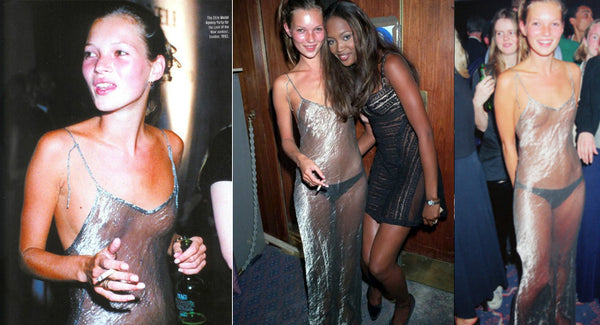 Kate Moss in Liza Bruce 1993 Sheer See Through Dress - One Boutique Blog