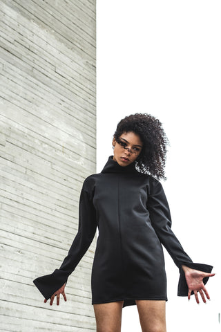 Oversized Black Partition Jumper