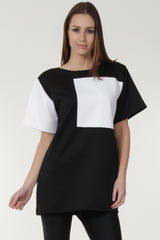 Monochrome Block Mini Dress