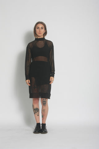 Jumper Dress - Oversized Mesh Jumper - One Boutique