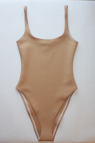 Mocha High Leg Swimsuit