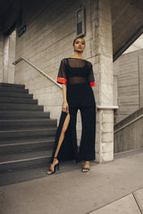 Black Slit Trousers - One Boutique ft. Biher Tewelde